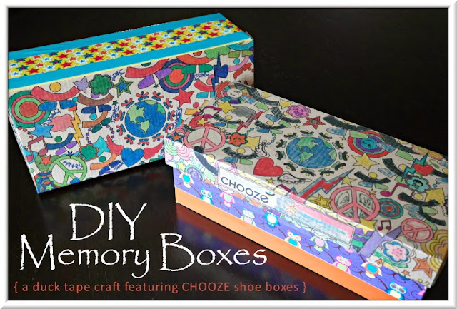 DIY Duck Tape Memory Boxes . . . a  Chooze Shoebox Kids Craft  |  www.3Garnets2Sapphires.com