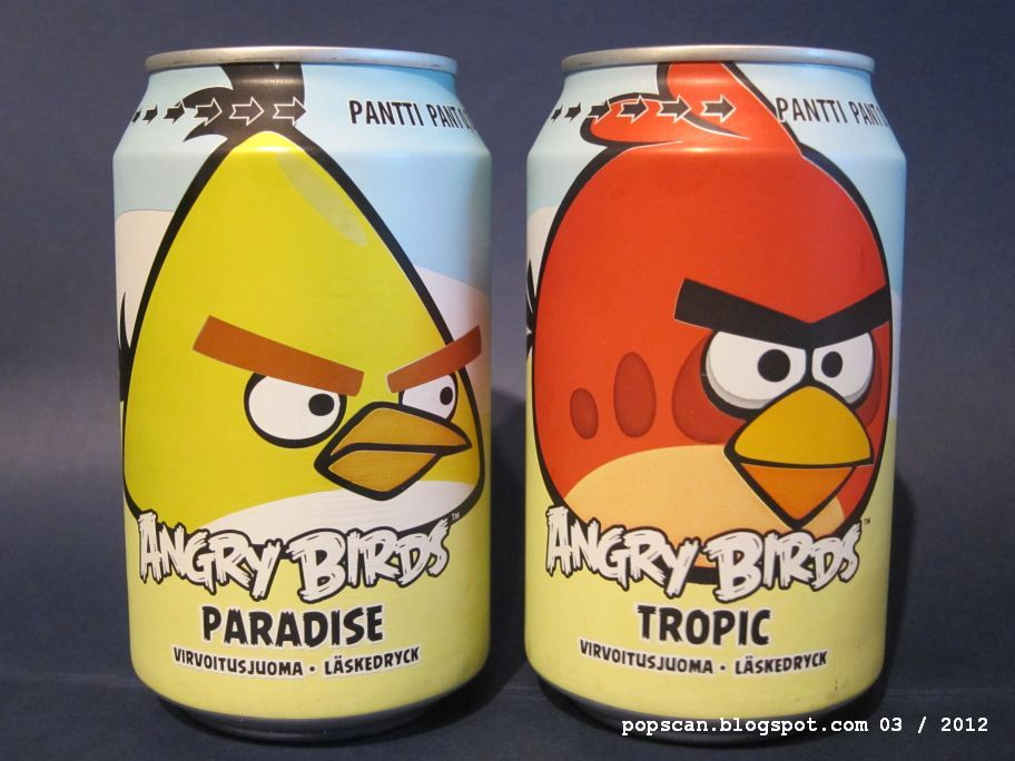 Angry Birds Soda with Some Flavors