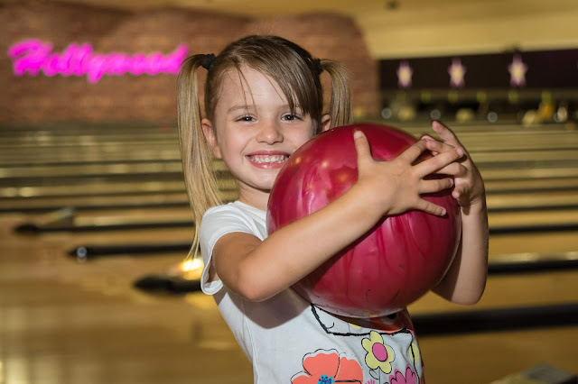 A child bowling at Hollywood Bowl Dagenham