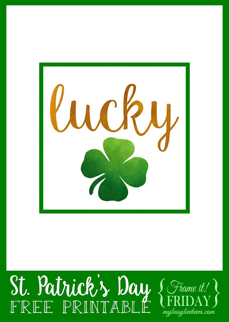 Lucky printable for St. Patrick's Day