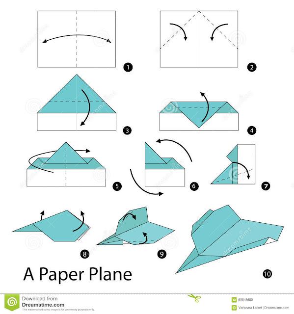 Diagramas de avIoncitos de papiroflexia