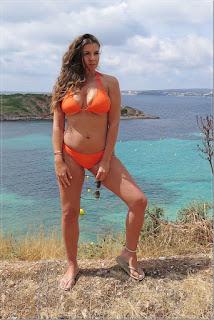 Imogen Thomas Modelling Bikini Range in Mallorca