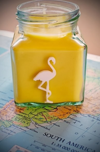 flamingo candle Coconut milk and honey
