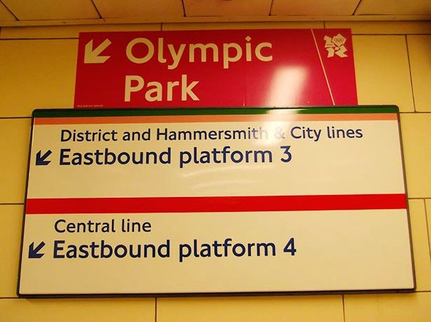 The tube during the London 2012 Olympic Games