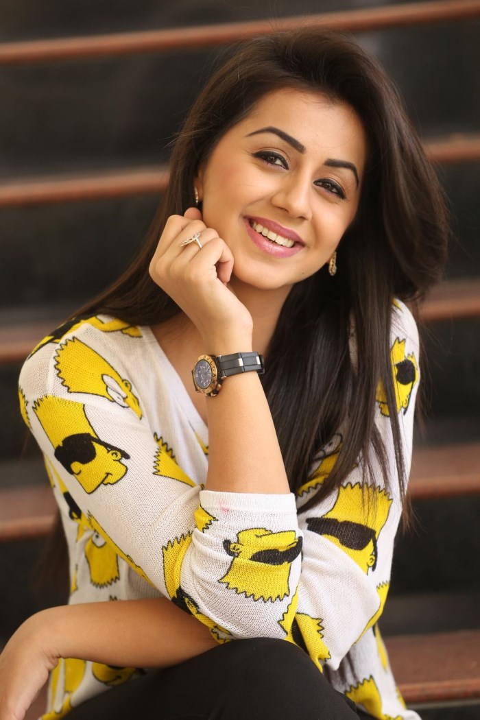 Tollywood Actress Nikki Galrani Stills In Yellow Dress