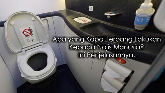 Cara kapal terbang menguruskan sisa kumbahan, najis manusia