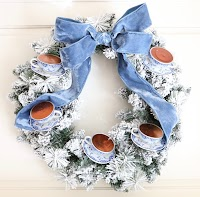 How to make your own teacup wreath