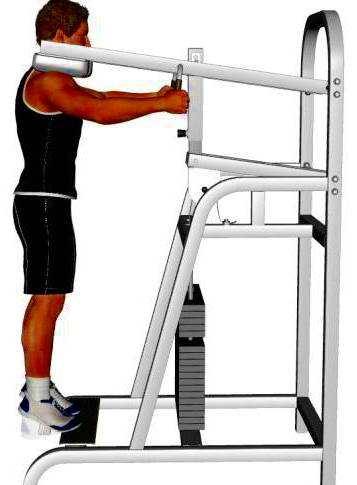 Standing calf raises on smith machine