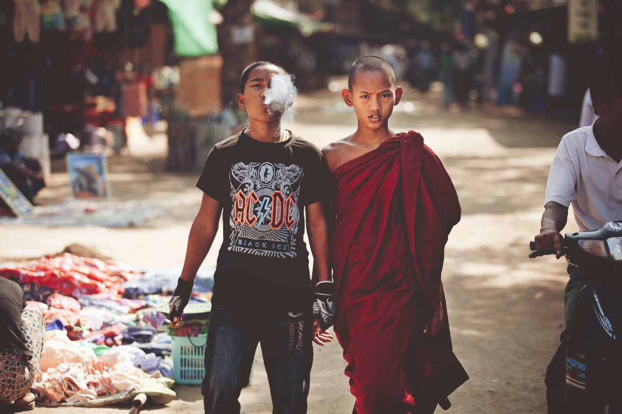 A MONK AND HIS BROTHER - 29 Breathtaking Photographs of The Human Race
