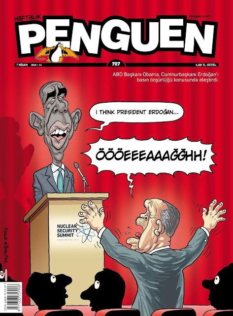 Penguen Dergisi - 7 Nisan 2016 Kapak Karikatürü