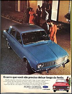 propaganda Ford Corcel - 1971, Ford Willys anos 70, carro antigo Ford, década de 70, anos 70, Oswaldo Hernandez,