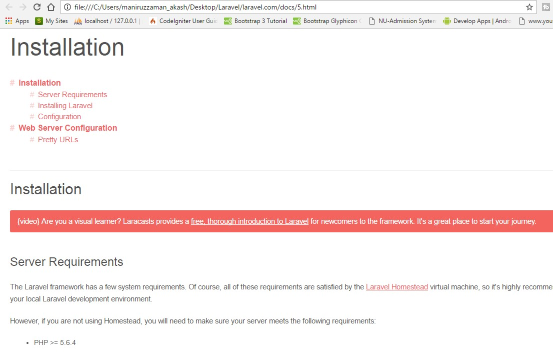Download Laravel Offline Documentation