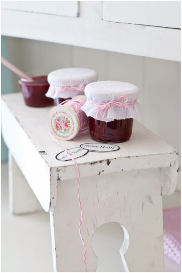 handmade jam and greengate spools of bakers twine