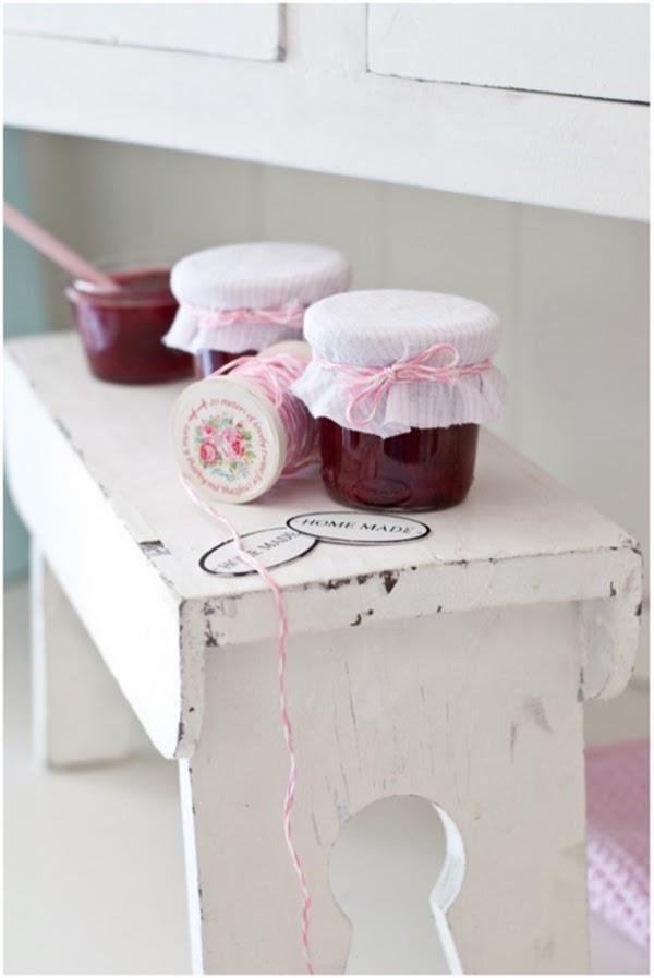 handmade jam and greengate spools of bakers twine