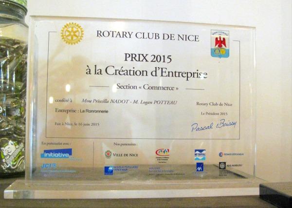 nice rotary club award