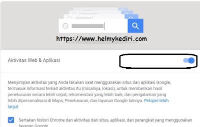 Cara mematikan dan menghapus data pelacakan google