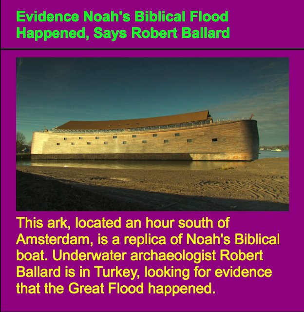 Evidence Noah's Biblical Flood Happened, Says Robert Ballard