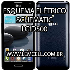 Esquema Elétrico Celular LG F6 Optimus D500 Manual de Serviço  Service Manual schematic Diagram Cell Phone Smartphone Celular LG F6 Optimus D500