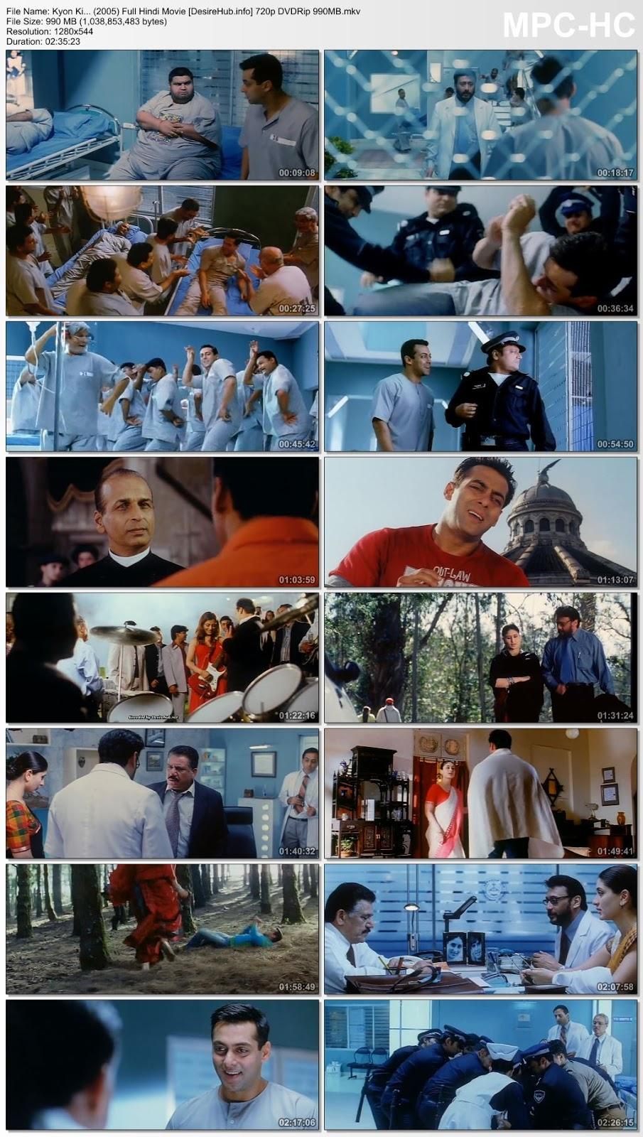 Kyon Ki… (2005) Full Hindi Movie 720p DVDRip 990MB Desirehub