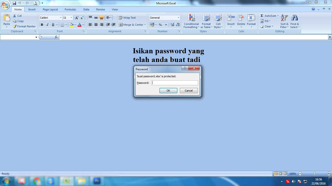 Cara Buka Password Pada Excel