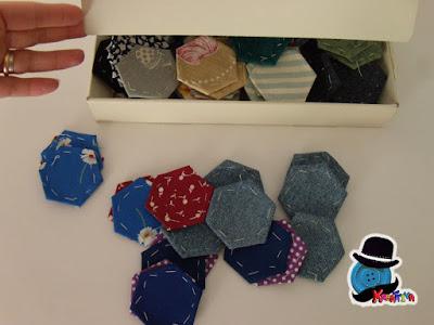 scatolina esagoni patchwork