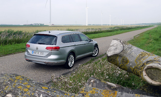 VW Passat GTE estate - rear view