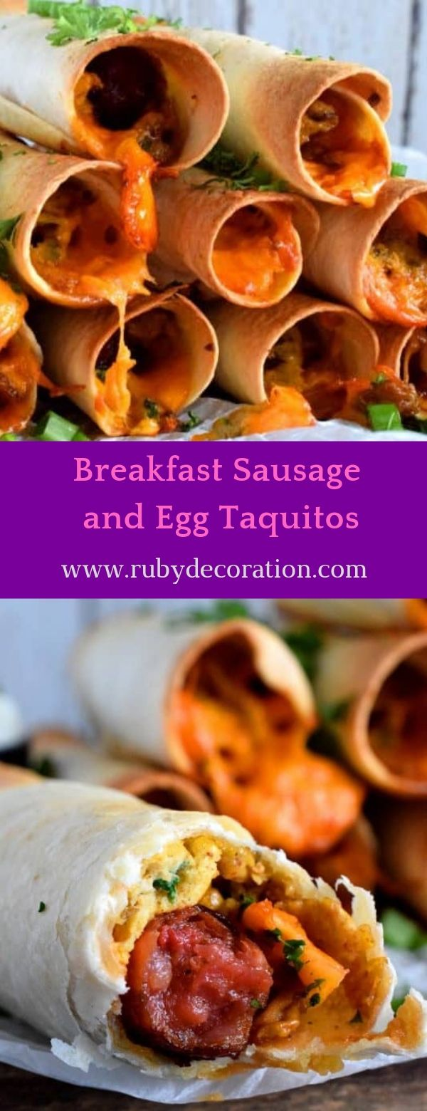 Breakfast Sausage and Egg Taquitos