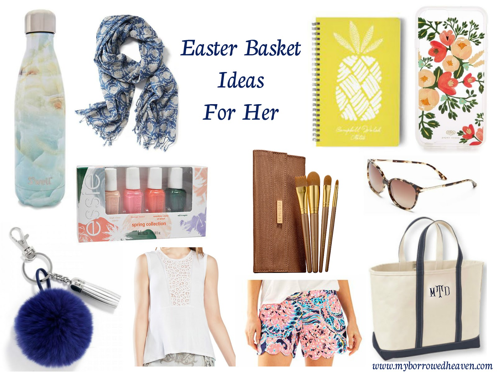 Borrowed heaven easter basket ideas for her ive rounded up some of my current spring favorites perfect for your own adult easter basket negle Gallery
