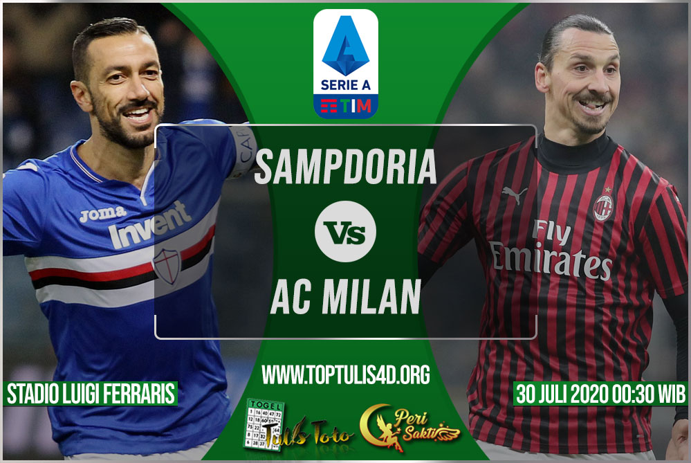 Prediksi Sampdoria vs AC Milan 30 Juli 2020