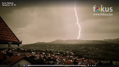 A strong thunderstorm storm in Bosnia 7 July 2016