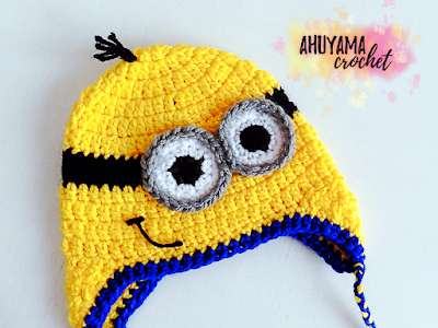 imagen gorro de minion a crochet ahuyama crochet