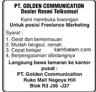Lowongan Kerja PT. Golden Communication (Telkomsel)