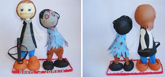 Fofuchos zombie y Daryl,de la exitosa serie the walking dead
