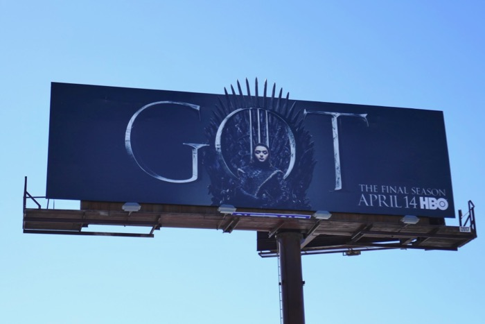 GOT final season 8 Arya billboard