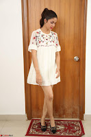 Lavanya Tripathi in Summer Style Spicy Short White Dress at her Interview  Exclusive 267.JPG