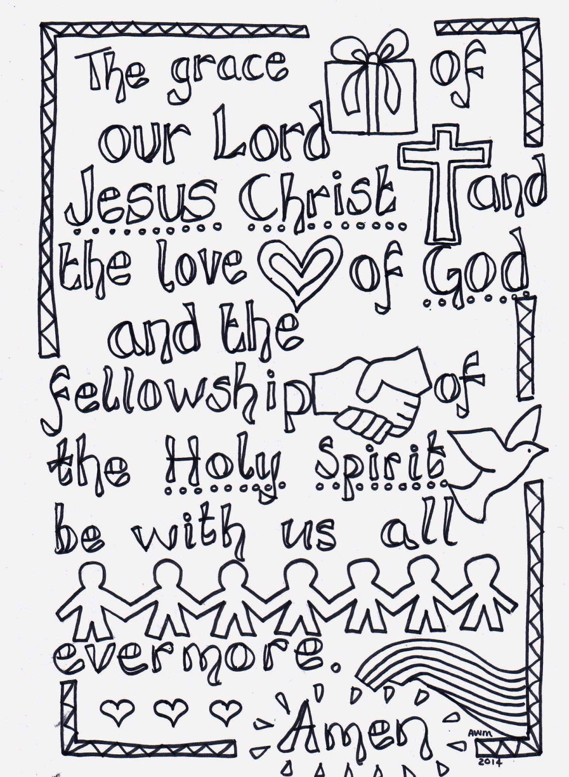 Flame creative children 39 s ministry the grace reflective for Grace coloring page