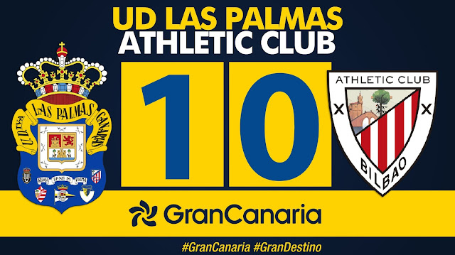 Marcador 1-0 UD Las Palmas - Athletic Club
