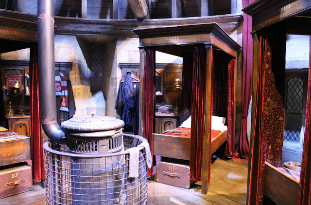 A picture of the boys dormitories at Hogwarts