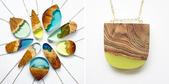 berbagai model kalung unik dari epoxy resin