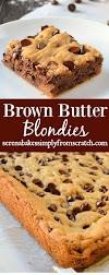 Brown Butter Blondies