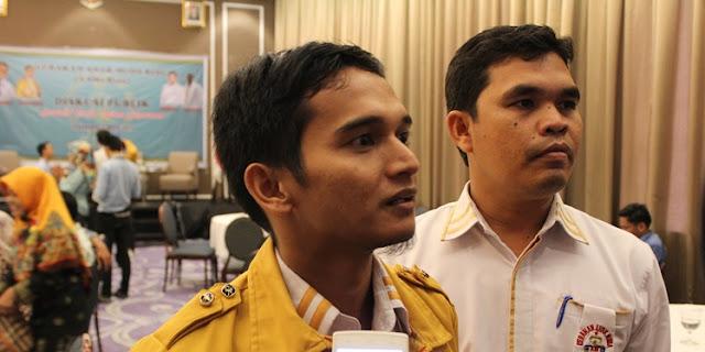 Ketua DPP GAMa Riau Riki Zaputra, dan Sekjen Darussalim