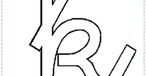Tia Lays e Cia.: Letra k minuscula cursiva para pintar
