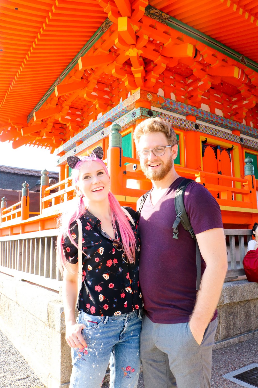 Touring Kiyomizu-dera in Kyoto Japan