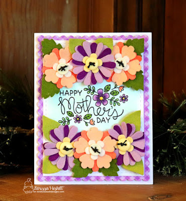 Fabulous Floral Mother's Day Card by Larissa Heskett | Flower Trio and Frames & Flags Die Set and Mother's Day Stamp Set by Newton's Nook Designs #newtonsnook #handmade