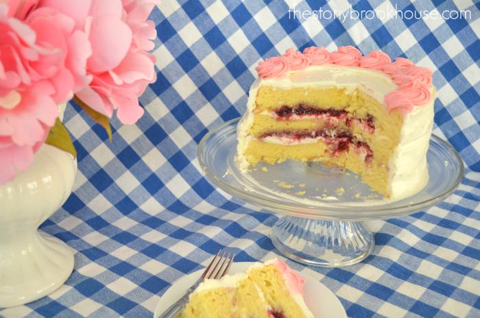 Raspberry filled Lemon Cream Cheese Buttercream