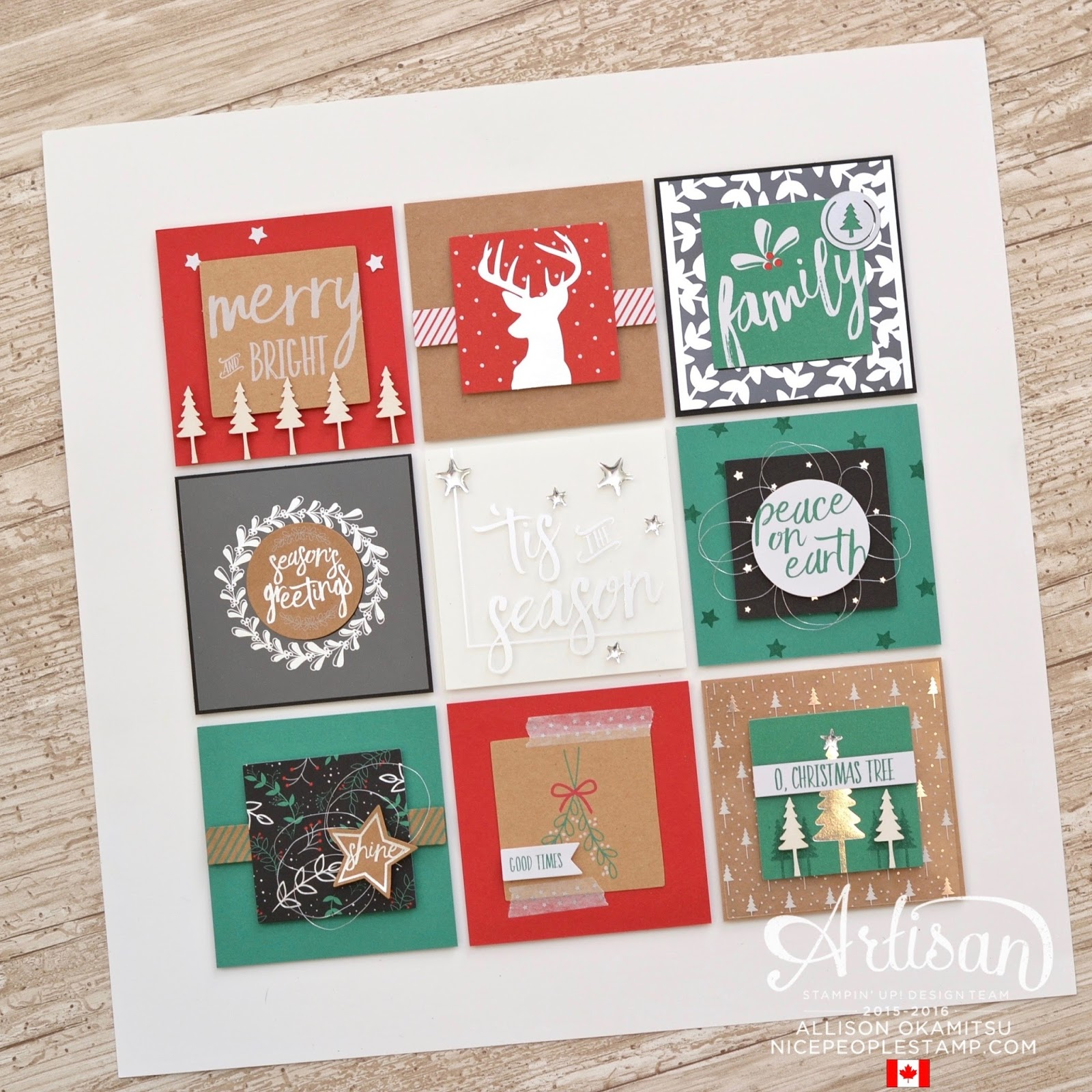 nice people STAMP Hello December Home Decor Frame Stampin Up