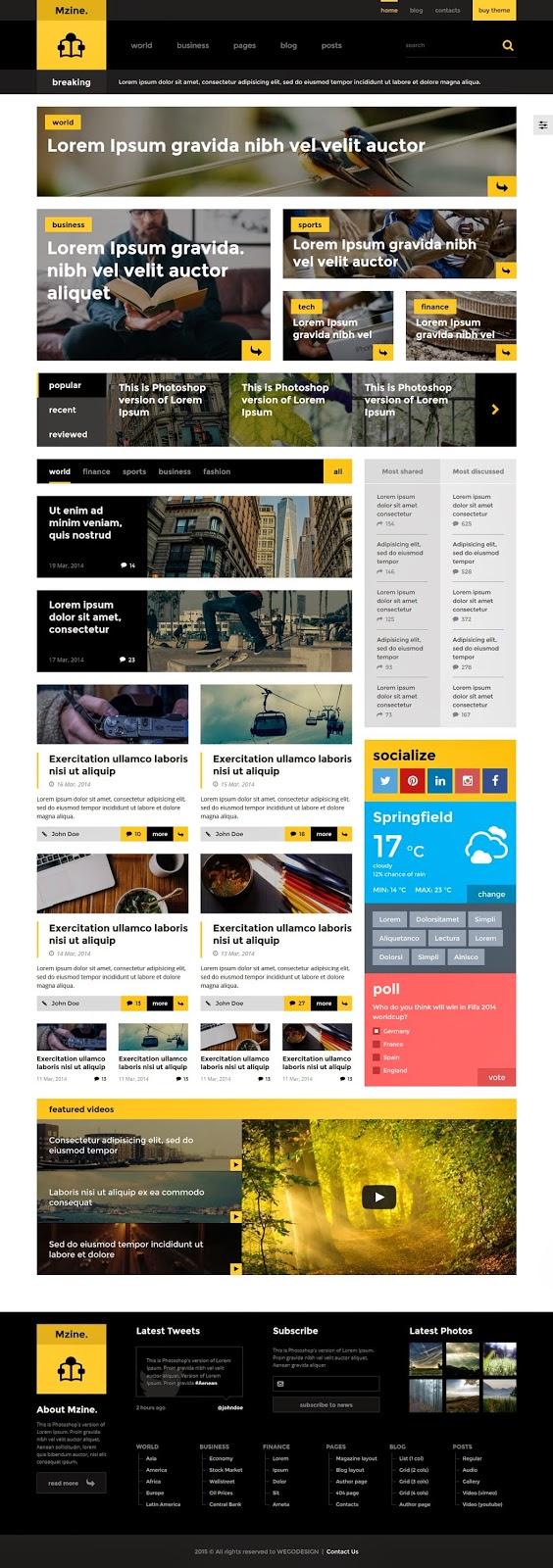 Multipurpose Responsive HTML Template 2015