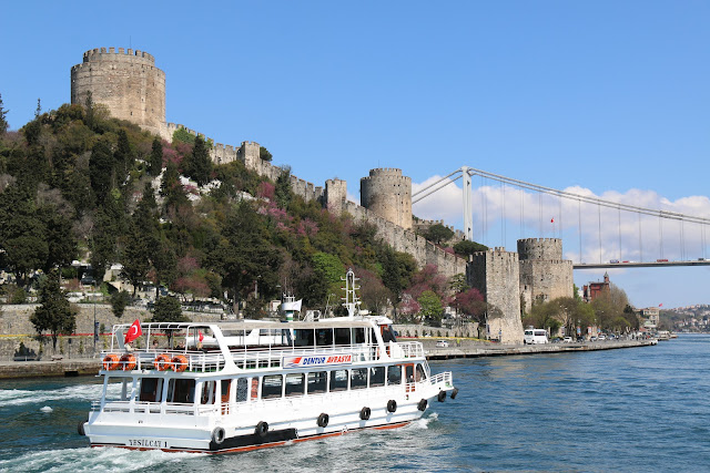 Heading back to Galata Bridge along Bosphorus Strait to see Asian side of Istanbul in Turkey