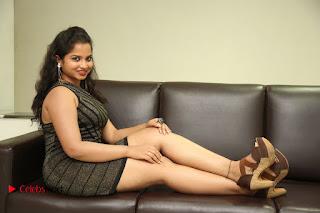 Actress Sirisha  Pictures in Shorts Dress at Follow Follow U Trailer Launch  0102.JPG