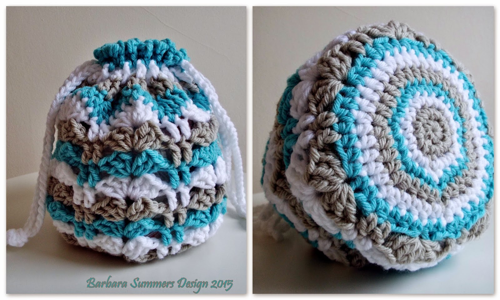 Microcknit Creations Cindy Crochet Drawstring Bag Free Pattern